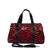 Red Zebra Duffel Bag