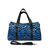 Turquoise Zebra Duffel Bag