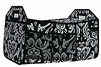 Black Damask Insulated Travel Organizer