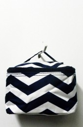 Black White Chevron Cosmetic Bag         # LU-DSCN2433