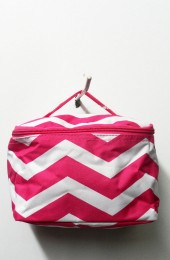 Hot Pink Chevron Cosmetic Bag           #LU-DSCN2434PK