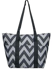 Grey Chevron Insualted Lunch Travel Bag