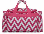 Large Pink Chevron Duffel Bag