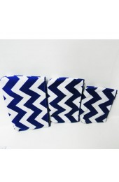 Set of 3 Blue Chevron Cosmetic Bags            #LU-ZCM2929-RBL