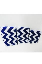 Set of 3 Blue Chevron Cosmetic Bags            #LU-ZCM2929-RBL