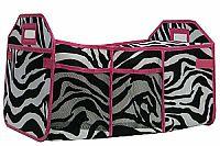 Pink Zebra Insulated Travel Organizer