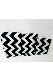 Set of 3 Black Chevron Cosmetic Bags             #LU-ZIB2929-BLK
