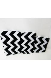 Set of 3 Black Chevron Cosmetic Bags             #LU-ZIB2929-BLK
