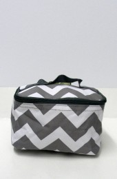 Gray Chevron Cosmetic Bag              #LU-ZIG277-GRAY