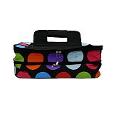 Black Polka Dot Double Carrier   #LU-blackdot