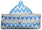 Insulated Blue Chevron Double Casserole Carrier      #LU-blue