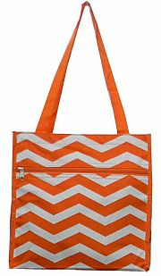 Small Chevron Orange Tote Bag