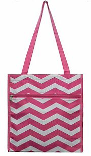 Small Chevron Pink Tote Bag