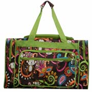 Large Green Monkey Duffel Bag
