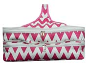 Insulated Pink Chevron Double Casserole Carrier       #LU-Pink