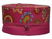 Pink Paisley Pie Cake Carrier        #LU-PinkPaisleyPie