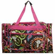 Large Pink Monkey Duffel Bag