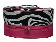 Insulated Pink Zebra Pie Cake Carrier        #LU-PkZebraPie