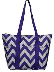 Purple Chevron Insulated Lunch Travel Bag