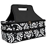 Black Damask Double Carrier        #MW-BlackDamaskDouble
