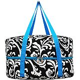 Blue Damask Crock Pot Carrier             #MW-BlueDamaskCrock