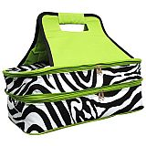 Green Zebra Double Food Carrier        #MW-GreenZebradouble