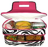 Pink Zebra Double Food Carrier        #MW-PinkZebraDouble