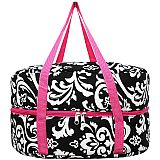 Pink Damask Crock Pot Carrier