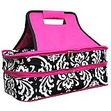 Pink Damask Double Carrier       #MW-PinkDamaskDouble