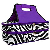 Purple Zebra Double Food Carrier        #MW-PurpleZebraDouble