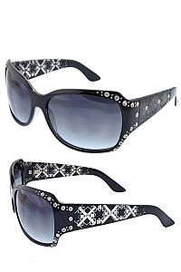 Black Rhinestone XXX Design Sunglasses      #O-CAQ1-10990