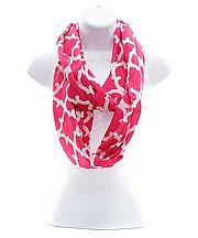 Hot Pink Quatrefoil Scarf  #NK-OTG589-HPK