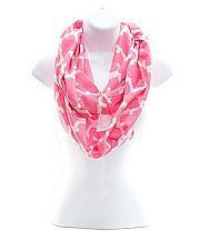 Light Pink Quatrefoil Scarf  #NK-OTG589-PK