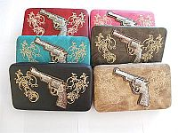 Rhinestone Western Embroidered Gun Wallets                #LGH-P80511