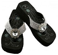 Rhinestone Bling Flower P & G Flip Flops           #PG-crystalflower