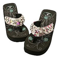 Multi Colored Rhinestone Star P & G Flip Flops         #PG-multistar