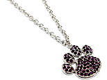 Purple Paw Print Necklace