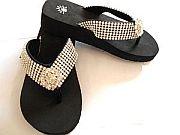 Isabella Rhinestone Daisy Flower  Flip Flops                    #LGHS-daisyS040