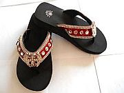 Isabella Red Rhinestone Cross Wings Flip Flops           #LGH-S044RDCrossWings
