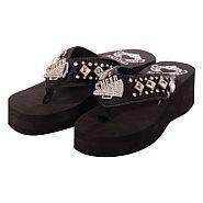 Katydid Black Cheer Flip Flops