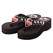 Katydid Black Football Flip Flops