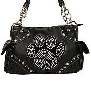 Rhinestone Paw Print Handbag   #SFB-HB-069