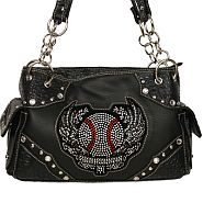 Rhinestone Baseball Wings Handbag        #SFB-HB-164