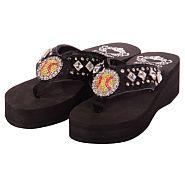 Katydid Black Softball Flip Flops