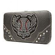 Rhinestone Baseball Wings Wallet        #SFB-baseballwings