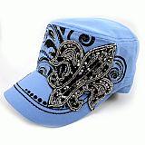 Blue Fleur De Li's Cadet Hat