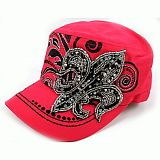 Pink Fleur De Li's Cadet Hat