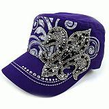 Purple Fleur De Li's Cadet Hat