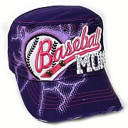 Rhinestone Purple Baseball Mom Hat