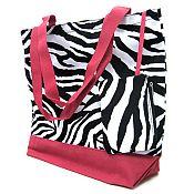 Pink Zebra Tote Bag